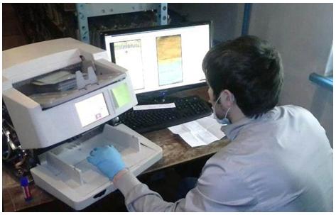 Каталожные карточки сканируются на высокоскоростных документных сканерах ЭЛАР Скамакс